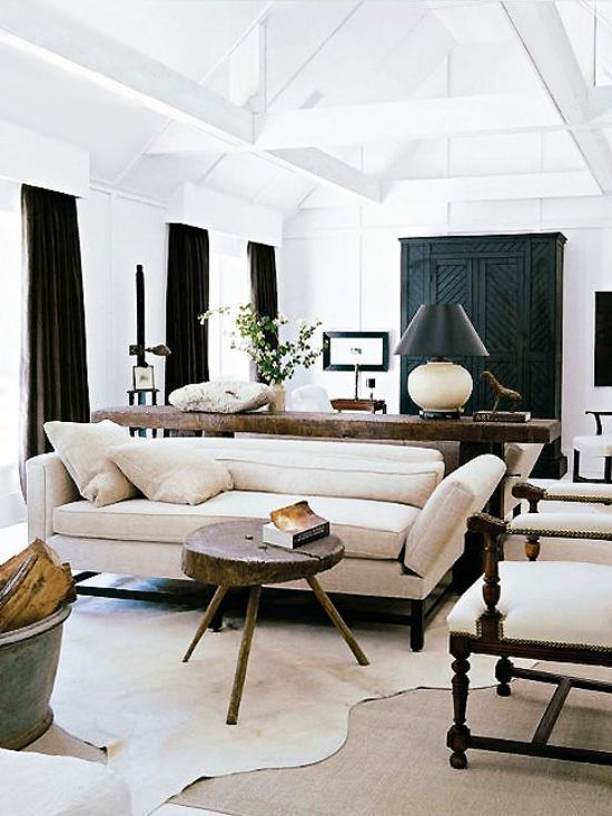 5 Brilliant Ways To Style Cowhide Rugs Thou Swell Living Room Designs House Interior Living Spaces