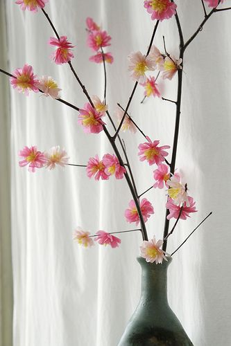 Tutorial for making beautiful tissue paper blossoms for ...