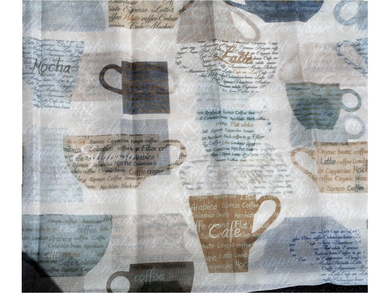 Coffee+Cups+Kitchen+Curtains+Tiers+Valance+Set $24.95 | Wake ...