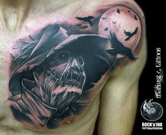 20 Scary Scarecrow Tattoos If I Only Had A Brain Scarecrow