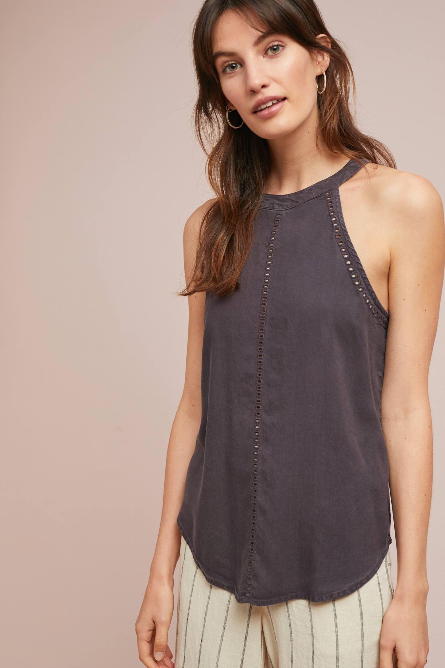 cb5c03e66955 Cloth & Stone Cutout Halter Top | Stitch Fix Style | Tops, Clothes ...