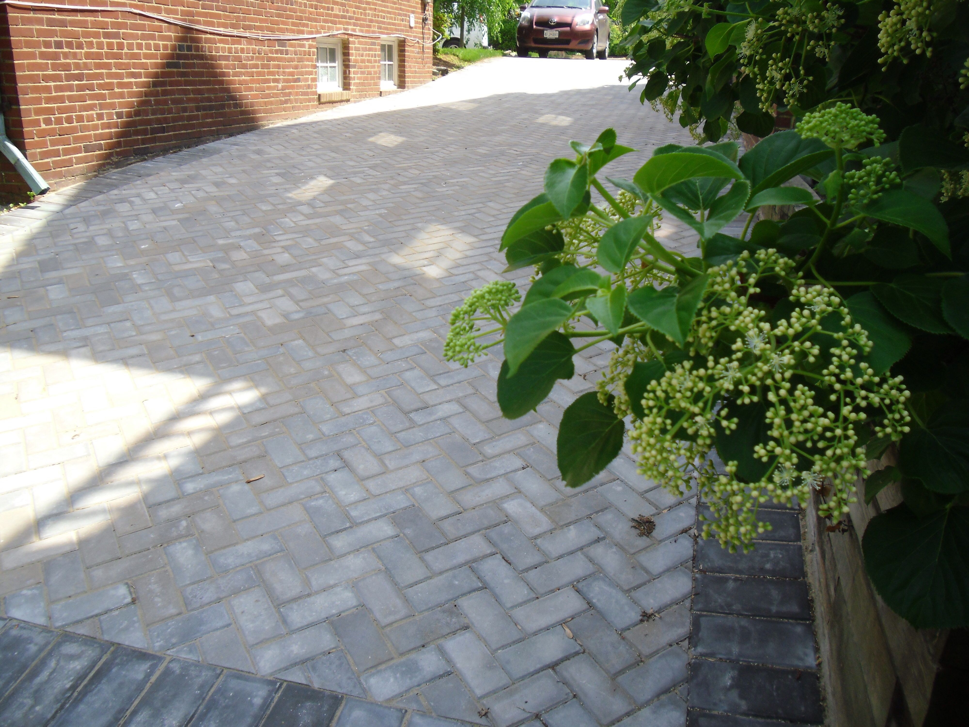 Classic Paver Driveway Traditional Herringbone Pattern With A Soldier Course Natural Landscaping Paving Stone Patio Professional Landscaping