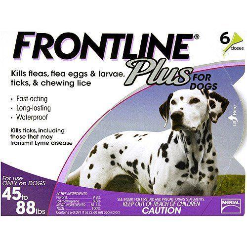 Dog Flea Drops Frontline Plus Flea Tick Control For Dogs 4588lbs 6 Month Supply Lea Frontline Plus For Dogs Tick Treatment For Dogs Tick Control For Dogs