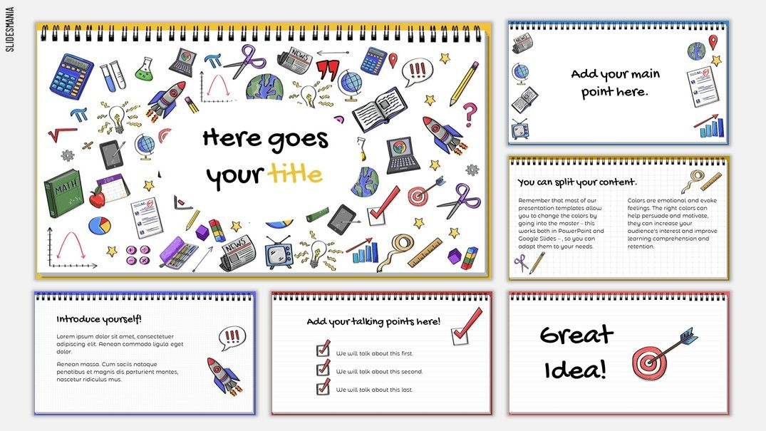 Doodles Free Template for Google Slides or PowerPoint