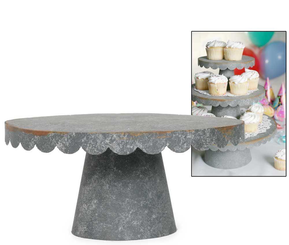 Medium scalloped cupcake stand yummy wedding cakes pinterest