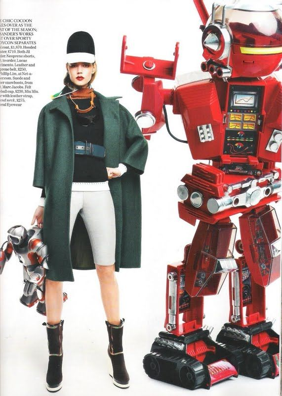 "Editorial: ""Tech Mate"" Freja Beha Erichsen for Vogue UK, October 2011 - Rougeberry Fashion"