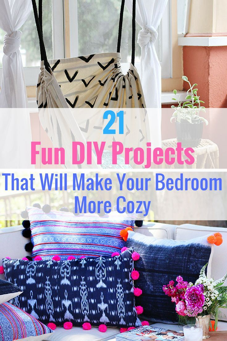 21 Fun DIY Projects That Will Make Your Bedroom More Cozy | Easy diy ...