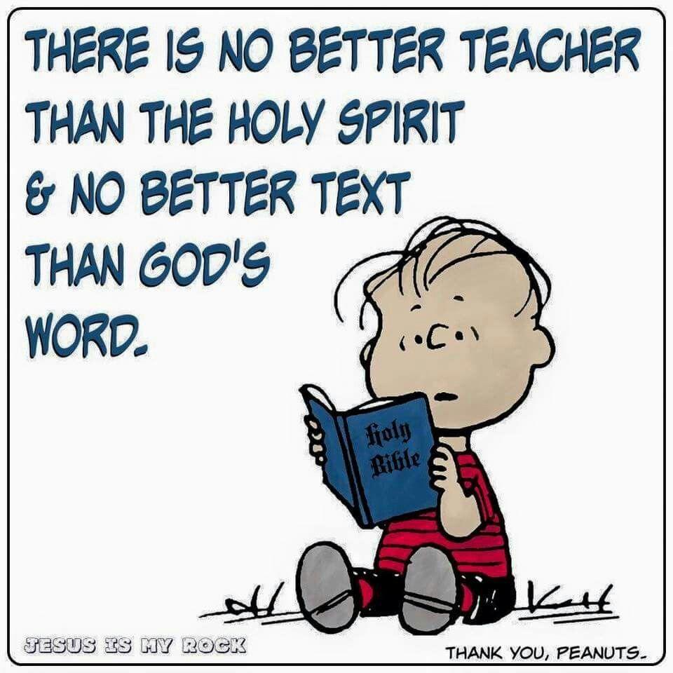 The Holy Spirit Our Teacher Peanuts Palabras Espirituales