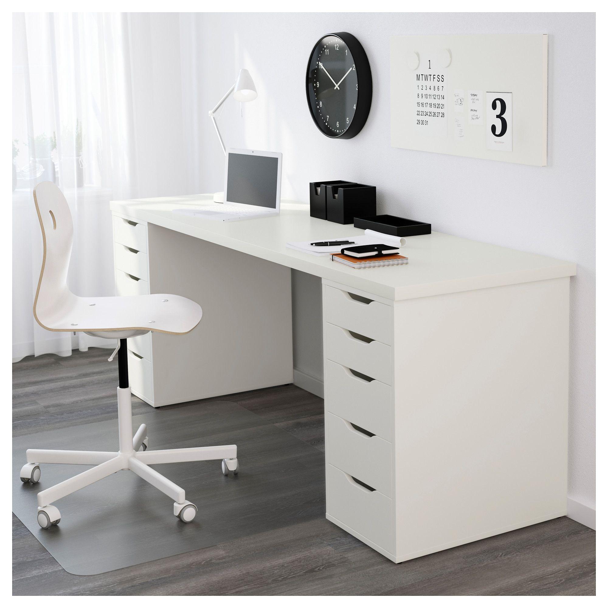 IKEA LINNMON White Tabletop Ikea table tops, Home office