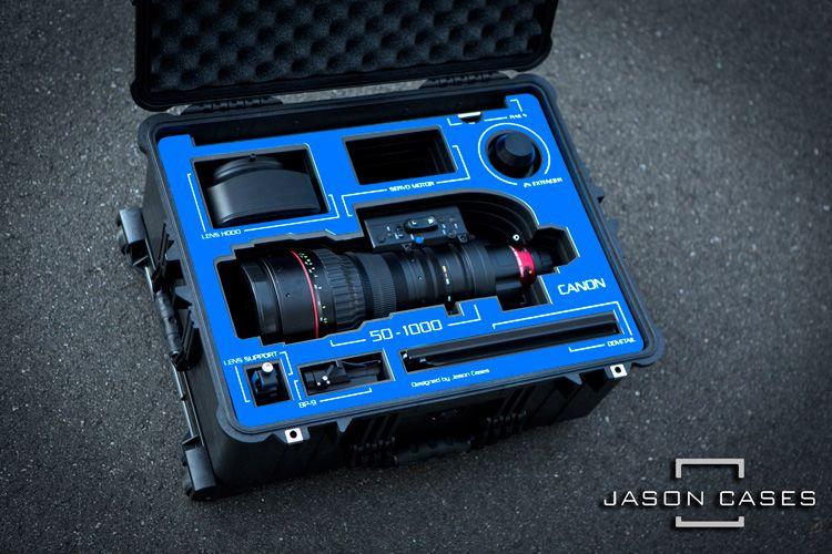 Canon 50 1000mm Lens Case Blue Overlay Case Travel Case Pelican Case