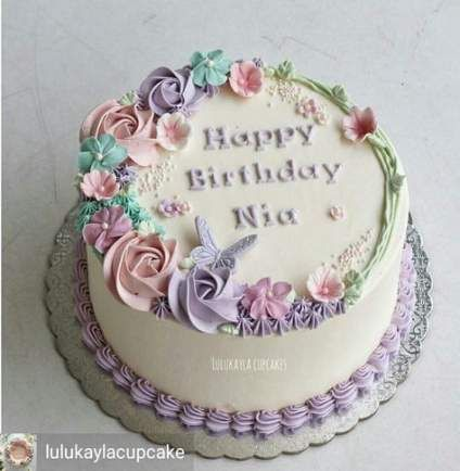 Cake Ideas Flower Simple 55 Ideas Flower Cake Butter Cream Cake