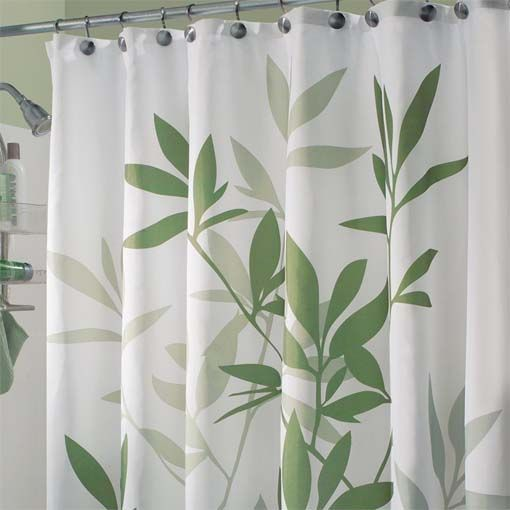 Simple shower curtain to go along with bamboo theme bathroom ...