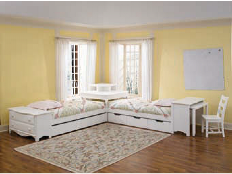 Haley 2 Twin Beds With Corner Unit Corner Twin Beds Girl Room