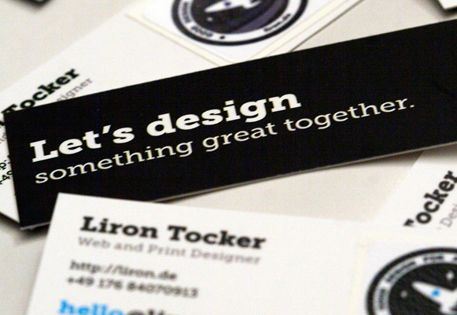 Glue backing paper of stickers to business cards tips marketing a sticky situation business cardscard colourmoves
