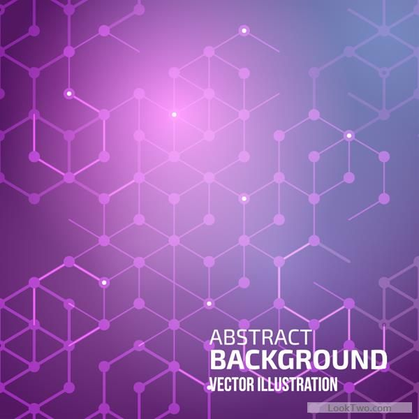 Wireframe abstract background merged pentagon shapes an circuit corner dots with…