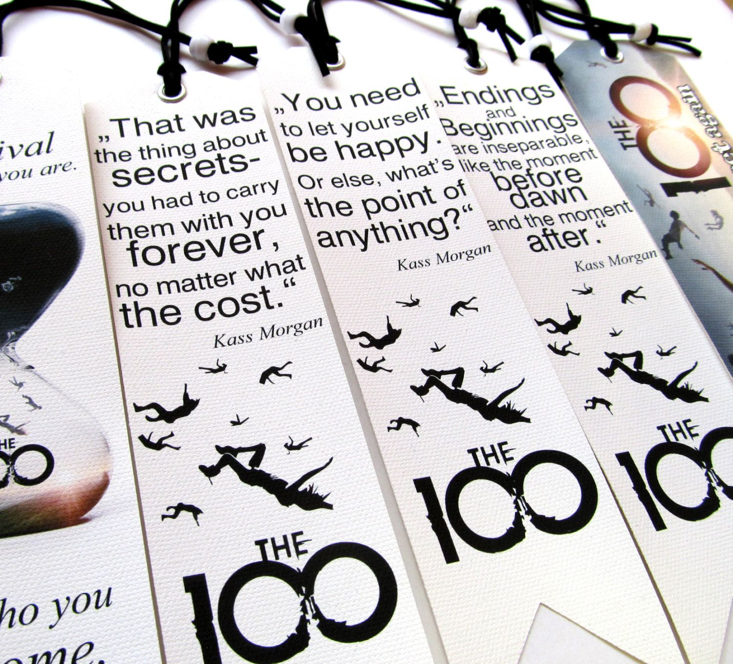 The 100 Kass Morgan Quotes Set Of 5 Pieces Bookmarks Kass