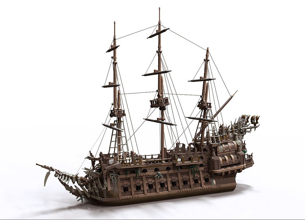 flying dutchman for potc game hobby lego pinterest schiffe lego und ideen. Black Bedroom Furniture Sets. Home Design Ideas