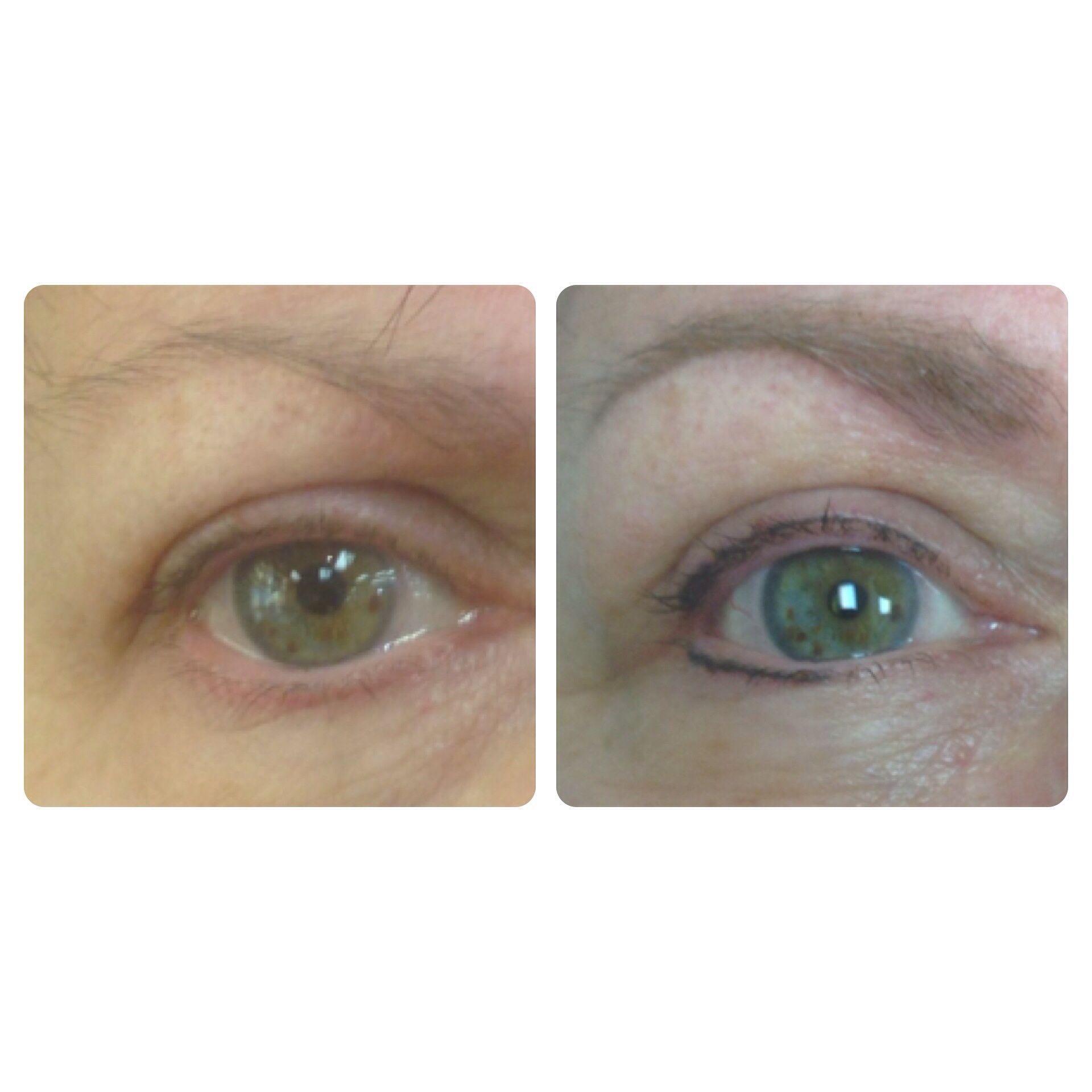 Micropigmentation eyelash enhancement and brow powder