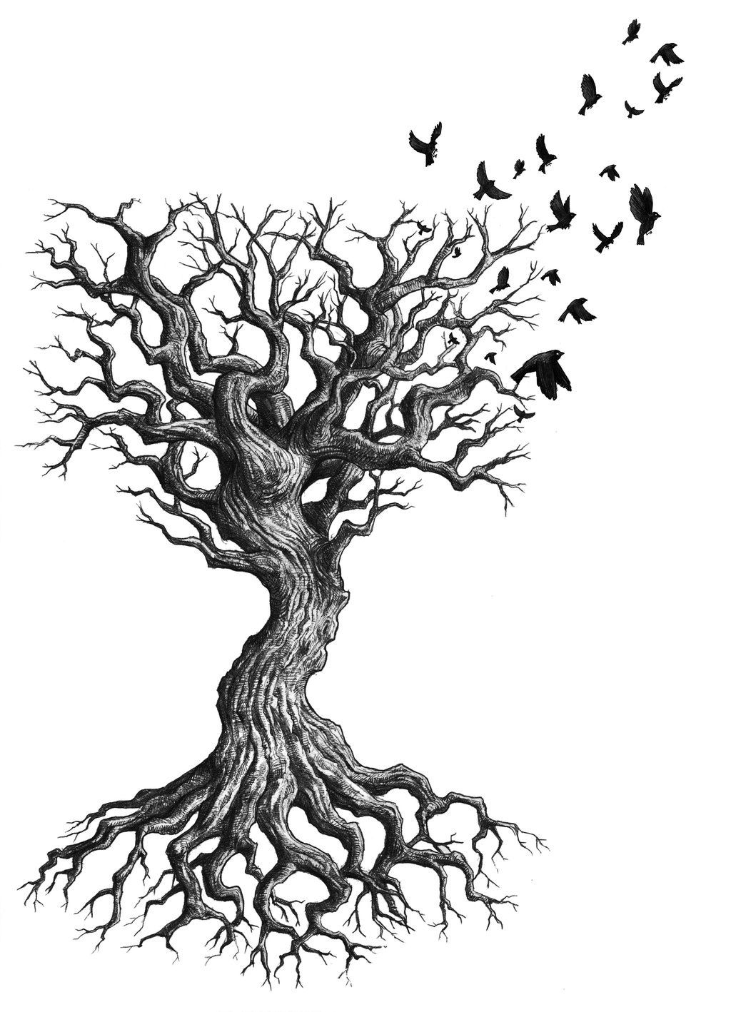 Oak Tree With Roots Tattoo: Tree Tattoos Designs, Ideas And