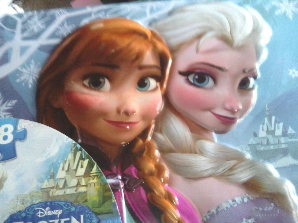 FROZEN/Disney Frozen Puzzle 48 Piece Lunch Box/NEW IN SHRINK WRAP/ANNA & ELSA/FR #Disney