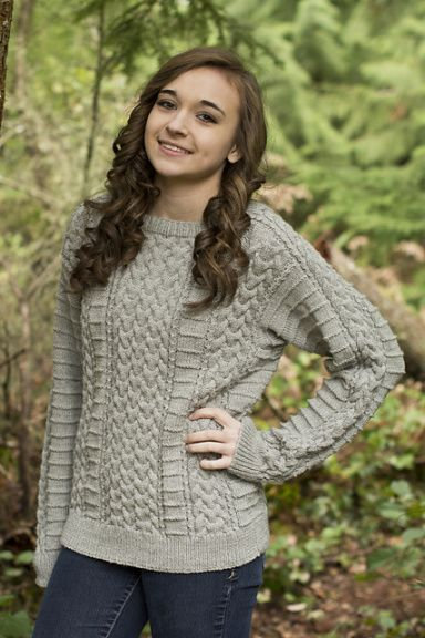 Free Knitting Pattern Brachnagh Aran Pullover and more pullover ...