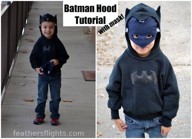 Batman Hoodie tutorial with removable mask masker #diy #verkleedkleding #verkleedkleren #verkleedkist