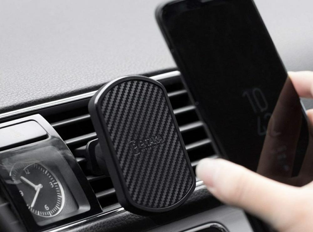 車のスマホホルダーはエアコン吹き出し口用のpikataが人気でワイヤレス充電も可 吹き出し 車 アラミド繊維