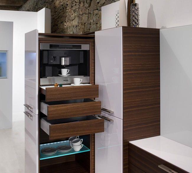 warendorf kücheneinheit versteckte elektrogeräte schubladen | Küche ...