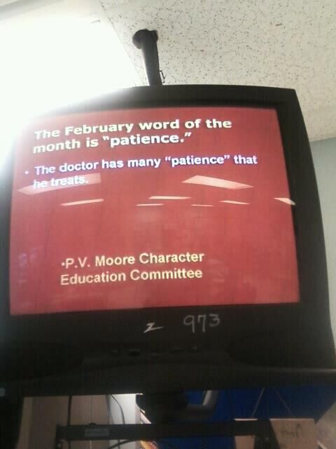 P.V. Moore Character Education Commitee....... STUPID!