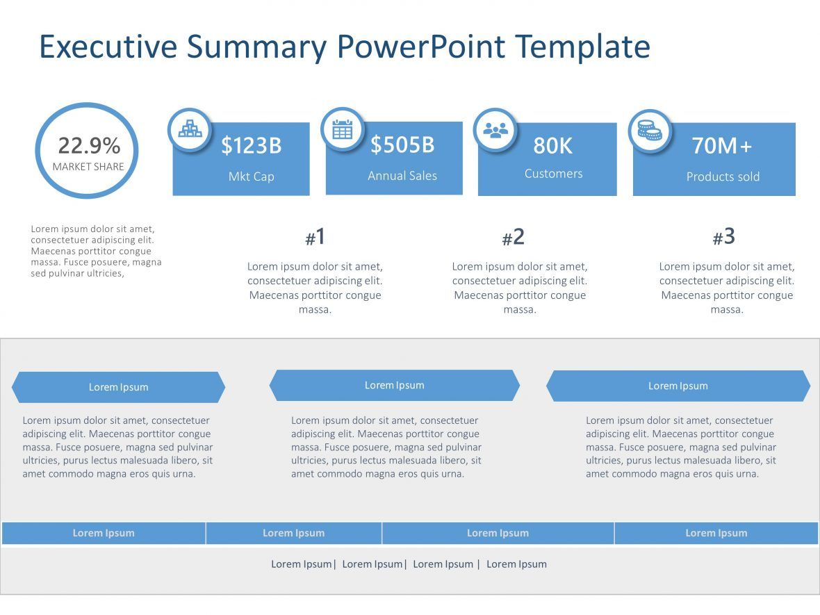 Executive Summary PowerPoint Template 40 Executive