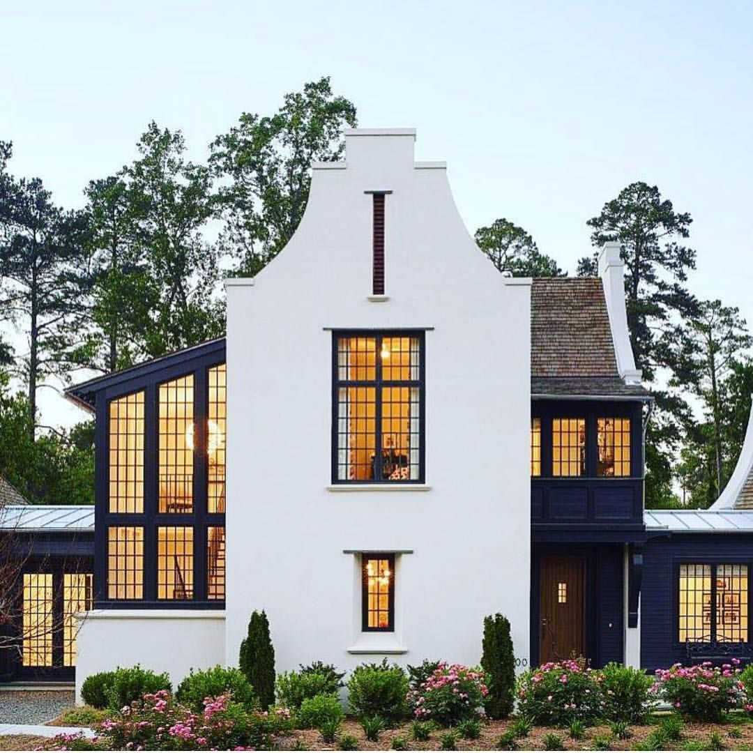 Modern Colonial Style House House Exterior House Design House