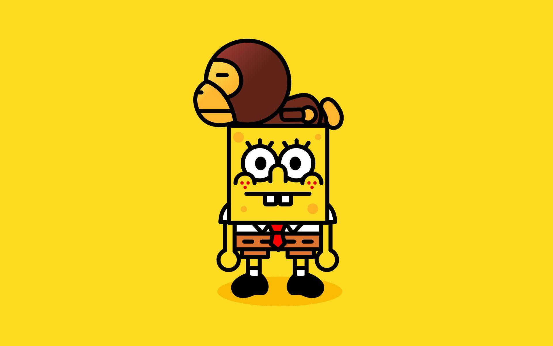 Monkey Spongebob Hehe Spongebob Wallpaper Bape Wallpapers Cartoon Wallpaper Hd