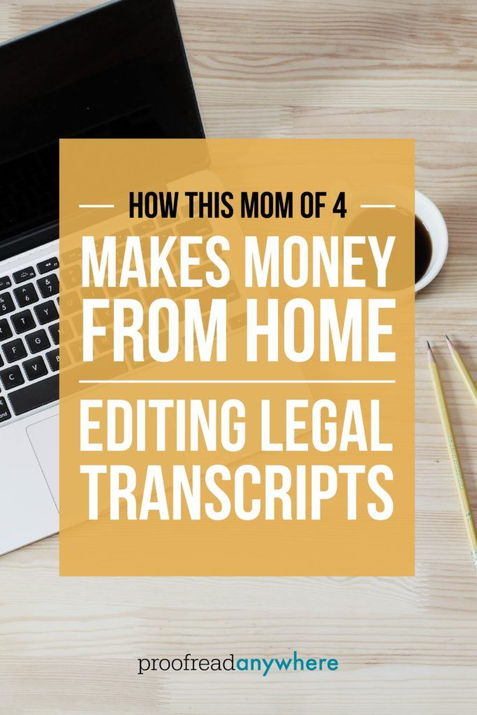 This mom knows how to work at home as a scopist, or editor for court reporter transcripts!