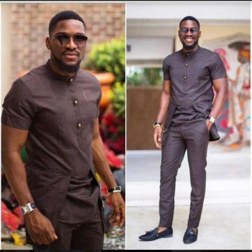 Brown African Fashion Dashiki Suit African Men Fashion Africa Blooms Dashiki For Men African Clothing For Men Nigerian Men Fashion