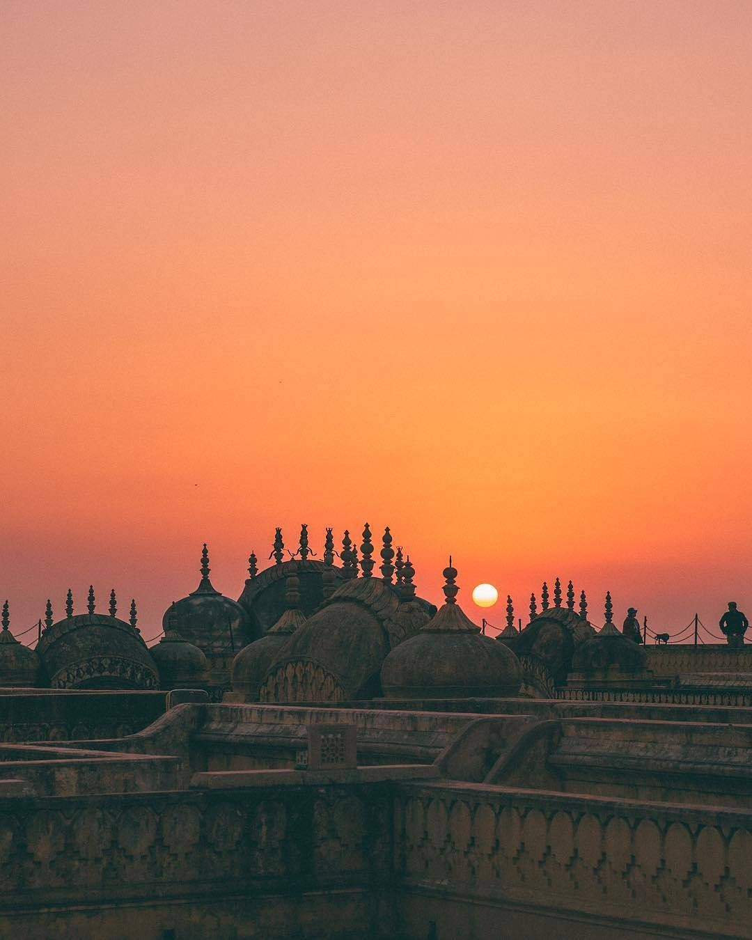 Jaipur From Above Pink City Blushing At Sunset Photo From