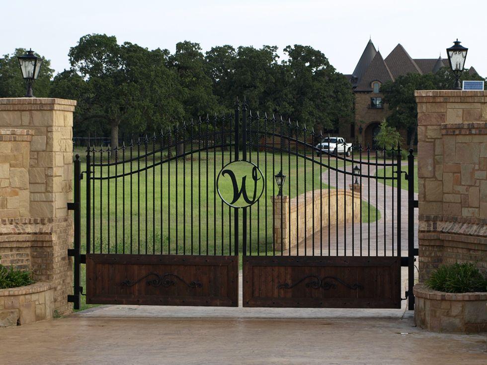 Front Gate Entrance Ideas With Stone Gates Entrances