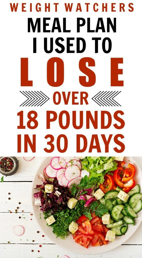 30 Day Weight Watchers Meal Plan Helped Me Lose Almost 20 Pounds Here is the 30 Day Weight Watchers Meal Plan that Helped Me Lose Almost 20 Pounds with never being hungry...