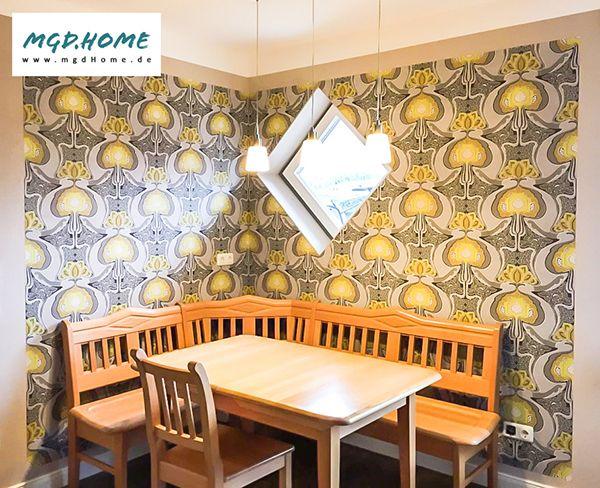 Küche Sitzecke mit LuxusTapete von Origin Essecke Wandgestaltung - essecken für küchen