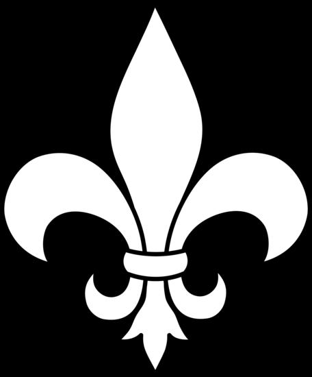 Simple Fleur De Lis Logo Design For Shield And Breast Plate Saint
