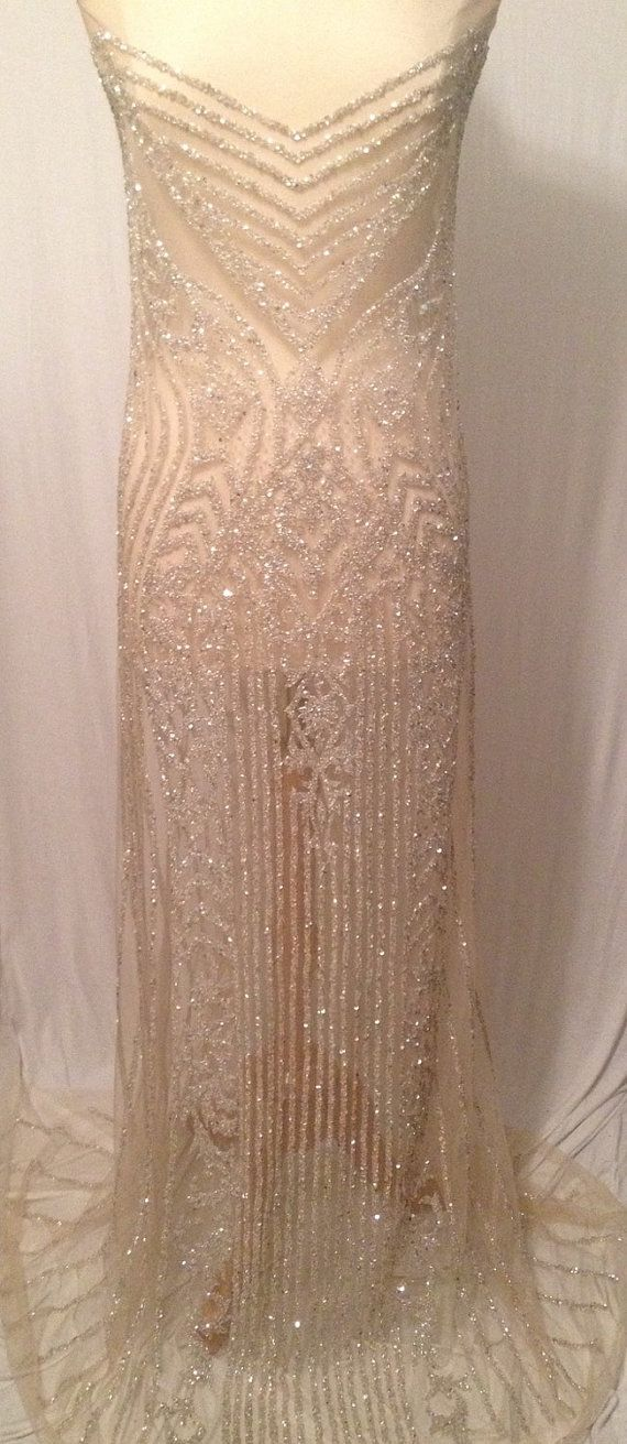 Flash Sale Rhinestone beaded dress panel by KatLabel on Etsy ...