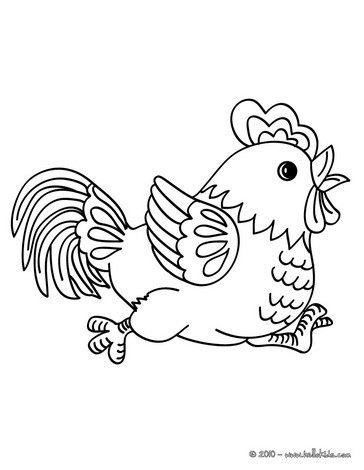 Rooster Coloring Page Cute And Amazing Farm Animals Coloring Page