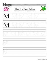 Letter M Handwriting Practice | Alphabet | Pinterest | Handwriting ...