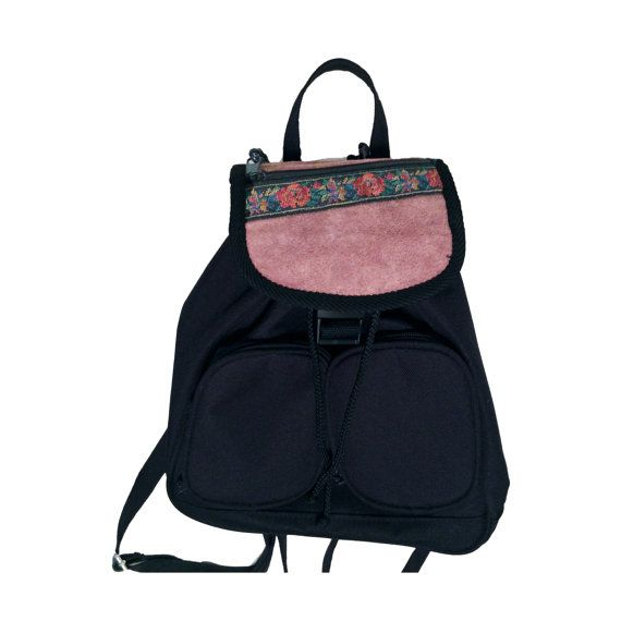 Black canvas mini backpack from the 90s.  southwest  minibackpack ... 7681e710aa844