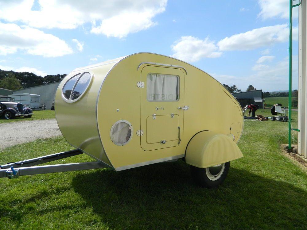 New vintage style Karavana teardrop camper/trailer, small