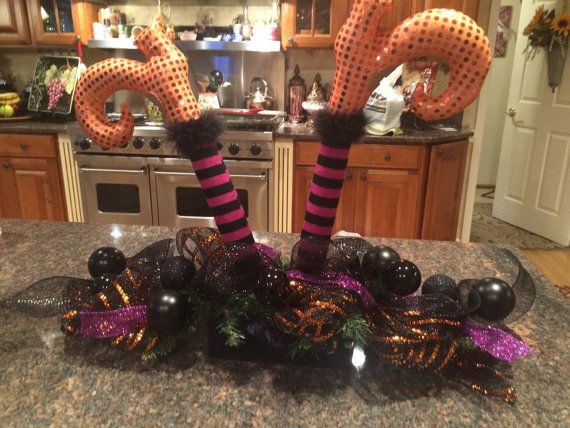 Witch legs Centerpiece by VersaSwags on Etsy