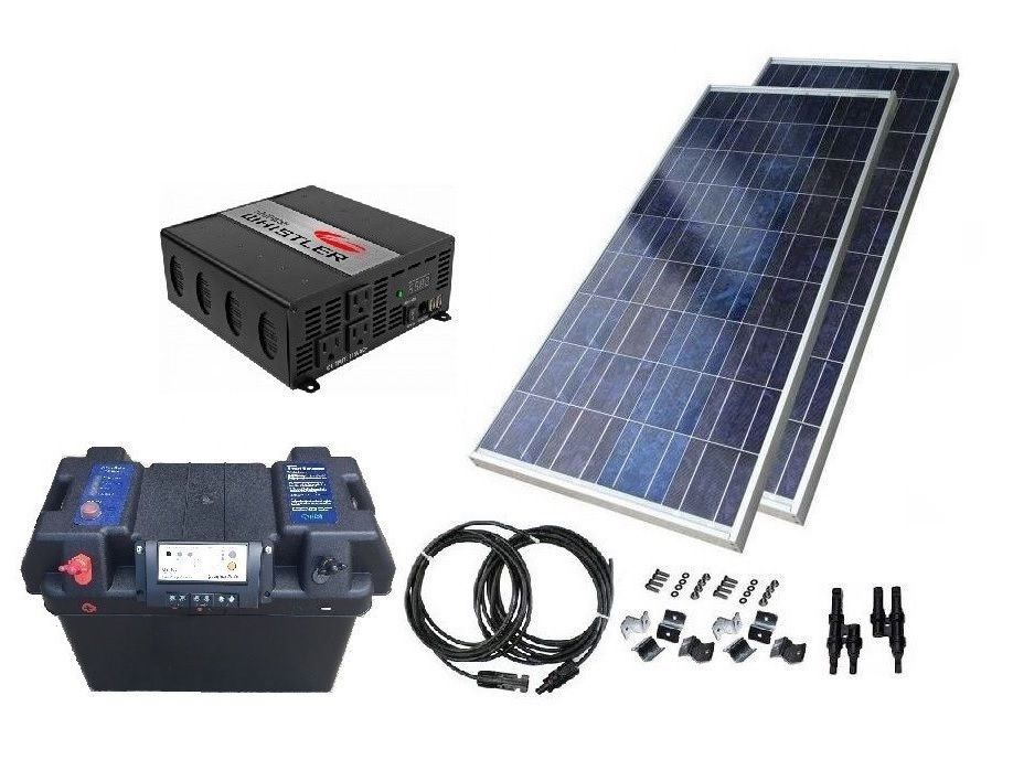 Off Grid Solar Power Kit W 1200w Power Inverter 130w Panel Without Battery Solar Power Kits Off Grid Solar Power Off Grid Solar