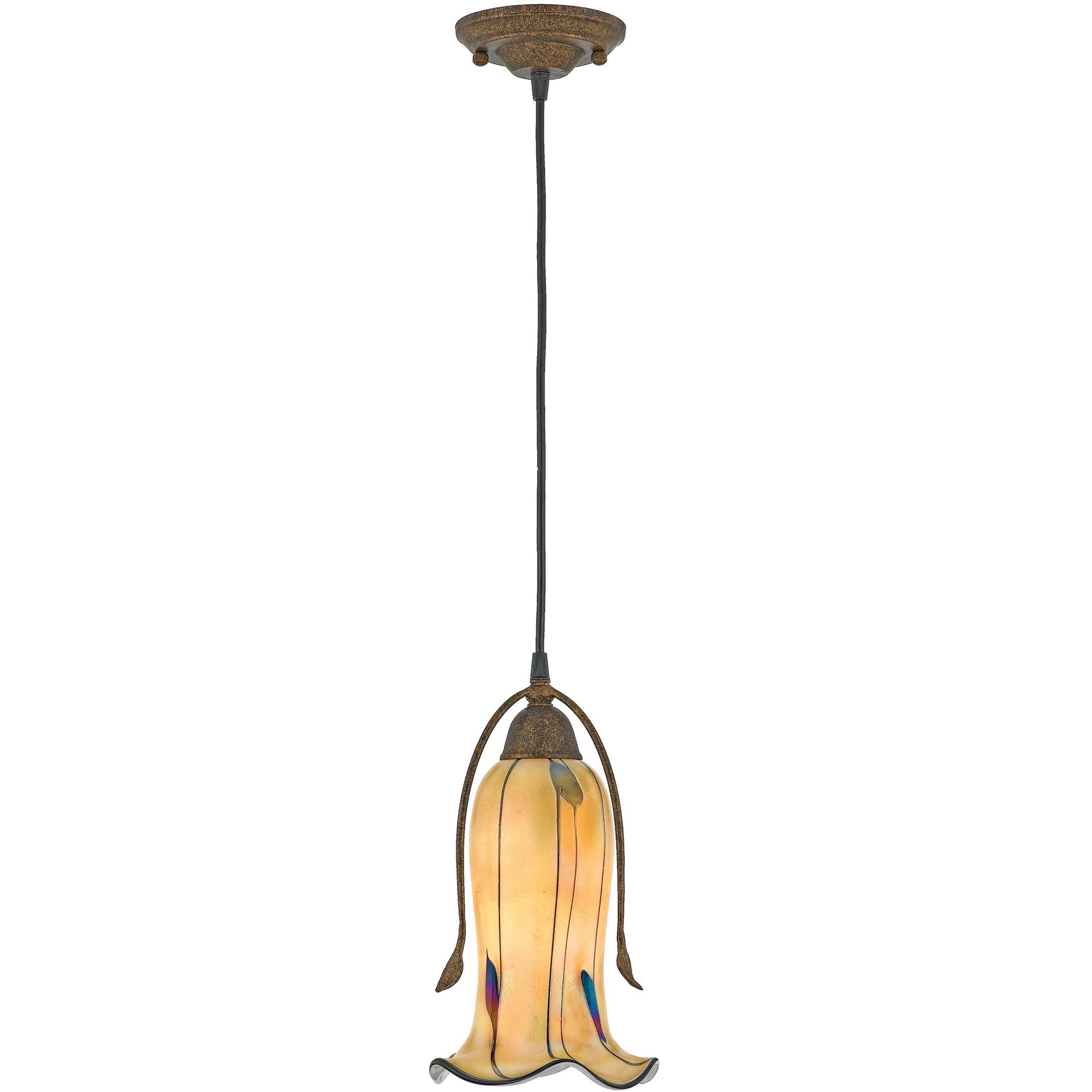 quoizel lighting casl1507ml quoizel casl1507 stained glass tiffany single light pendant