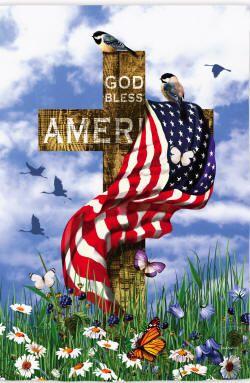 The Patriots Flag E13s2882 In 2020 Patriotic Garden Flag Cross Flag God Bless America