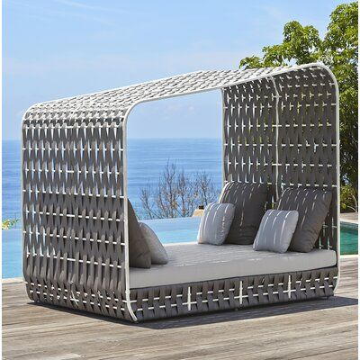 Skyline Design Strips Patio Daybed with Sunbrella Cushions | Perigold
