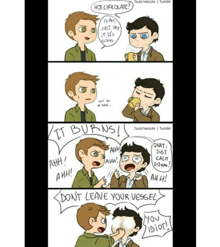 supernatural tumblr textpost destiel fanart comic